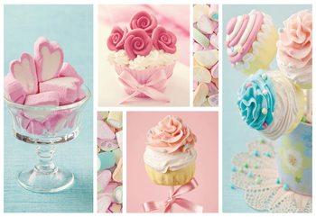 Cupcakes And Marshmallows Valokuvatapetti