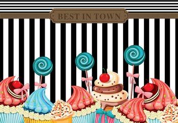 Cupcakes Retro Valokuvatapetti