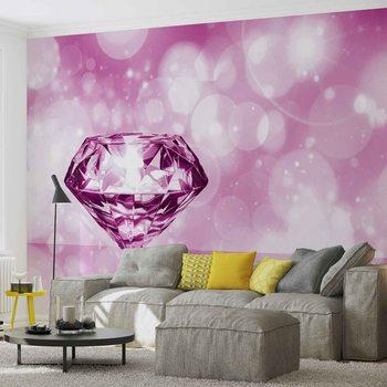 Diamond Pink Valokuvatapetti