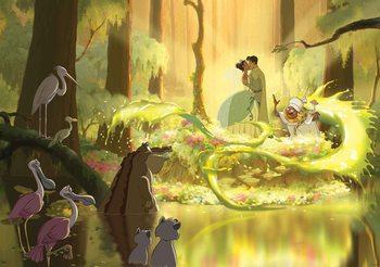 Disney Princesses Tiana Frog Kiss Valokuvatapetti