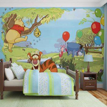 Disney Winnie Pooh Tigger Eeyore Piglet Valokuvatapetti