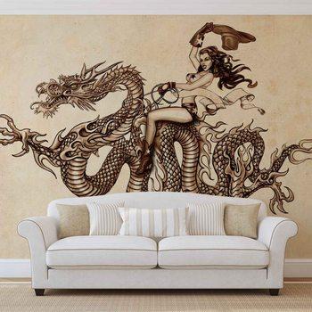 Dragon Tattoo Valokuvatapetti