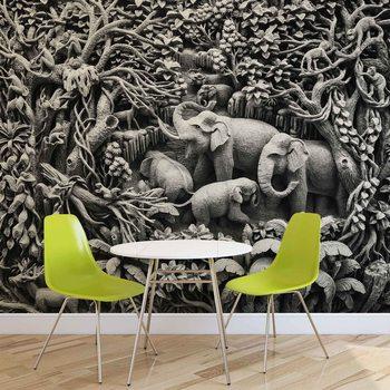 Elephants Jungle Valokuvatapetti