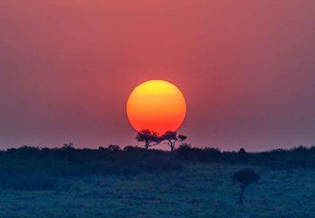 Equatorial Sunset Valokuvatapetti
