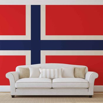 Flag Norway Valokuvatapetti