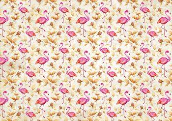 Flamingos Bird Pattern Valokuvatapetti