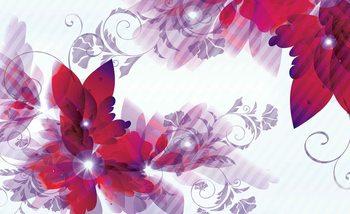 Flowers Abstract Valokuvatapetti