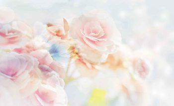 Flowers Pastel Colours Valokuvatapetti