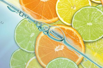 Food Fruits Lime Orange Lemon Valokuvatapetti