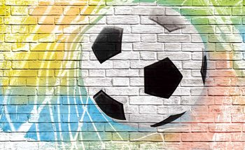 Football Wall Bricks Valokuvatapetti