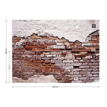 Grunge Brick Wall Valokuvatapetti