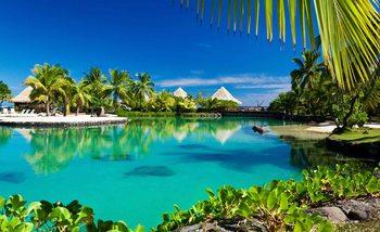 Island Palms Tropical Sea Valokuvatapetti