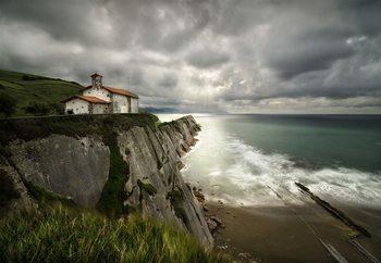 Itzurun Beach And Chapel Of San Telmo Valokuvatapetti