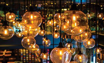 Light Bulbs Vintage Retro Valokuvatapetti