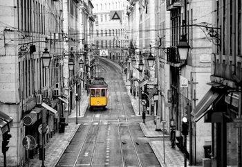 Lisbon Black And White Valokuvatapetti