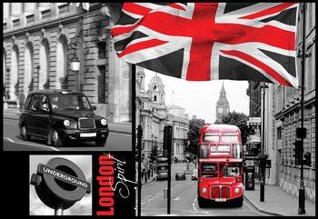 London Black And White Valokuvatapetti