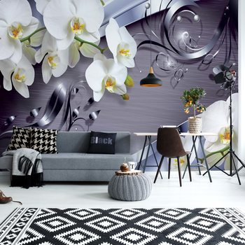 Luxury Ornamental Design Orchids Valokuvatapetti