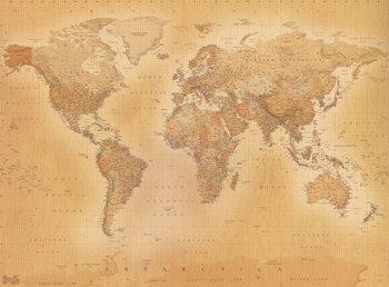 Maailmankartta - Old map Kuvatapetti, Tapettijuliste