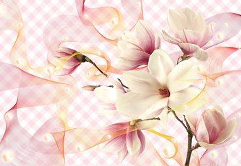 Magnolia Flowers Pink Valokuvatapetti