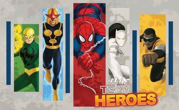 Marvel Comics Team Heroes Valokuvatapetti