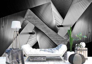 Metal Origami Valokuvatapetti