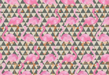 Modern Flamingo Pattern Valokuvatapetti