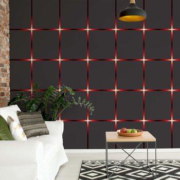 Modern Square Design Red Lights Valokuvatapetti