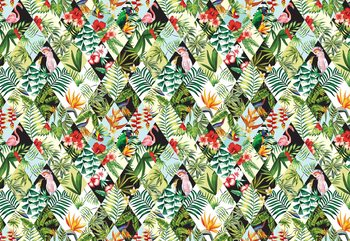Modern Tropical Pattern Valokuvatapetti