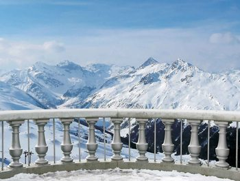 Mountain Scene Valokuvatapetti