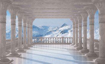Mountain Scene Through The Arches Valokuvatapetti