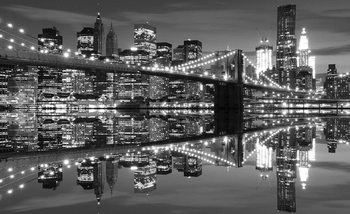 New York City Skyline Brooklyn Bridge Valokuvatapetti
