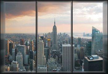 New York Skyline Window View Valokuvatapetti