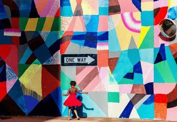 One Way Valokuvatapetti