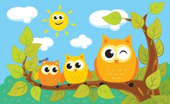 Owls Tree Valokuvatapetti