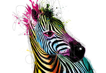 Kuvatapetti, TapettijulistePatrice Murciano - Zebra