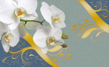 Kuvatapetti, TapettijulistePattern Flowers Orchids Abstract