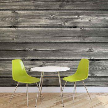 Pattern Grey Wooden Valokuvatapetti