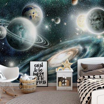 Planets In Space Valokuvatapetti