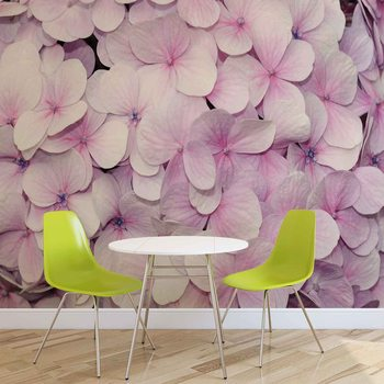 Purple Flowers Floral Design Valokuvatapetti