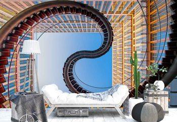Roller Coaster Valokuvatapetti