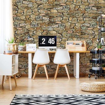 Rustic Stone Wall Valokuvatapetti