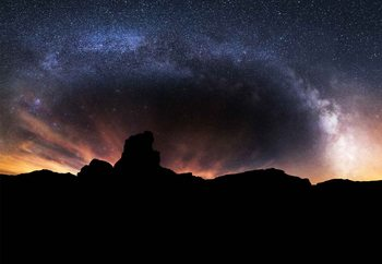 Silhouette Sky Valokuvatapetti