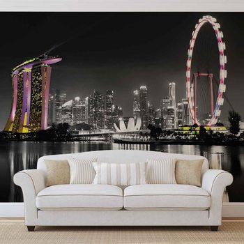 Singapore Skyline Valokuvatapetti