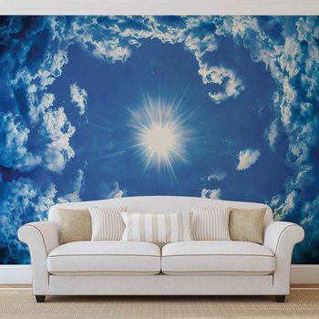 Sky Clouds Sun Nature Valokuvatapetti