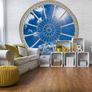Sky Ornamental Window View Valokuvatapetti