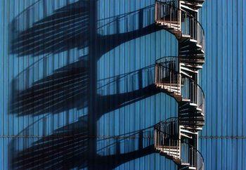 Spiral Staircase And Shadows Valokuvatapetti