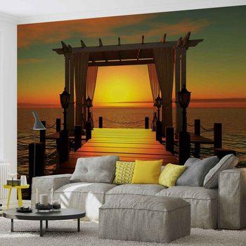 Sunset Paradise Beach Valokuvatapetti