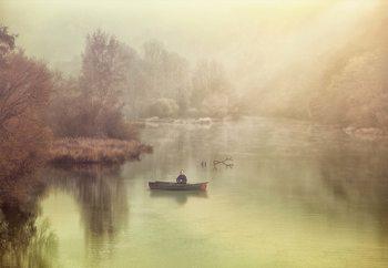 The Lonely Fisherman Valokuvatapetti