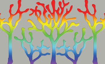 Tree Abstract Rainbow Valokuvatapetti
