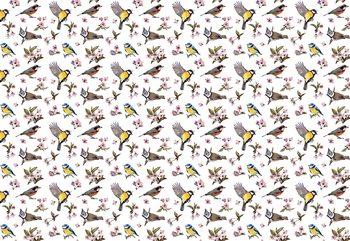 Vintage Bird Pattern Valokuvatapetti